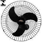 Ventilador De Parede Oscilante 60cm Preto Turbão Bivolt