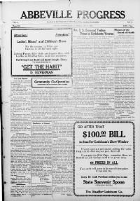 Abbeville progress. (Abbeville, Vermilion Parish, La.) 1913-1944, July 10, 1915, Image 1, brought to you by Louisiana State University; Baton Rouge, LA, and the National Digital Newspaper Program.