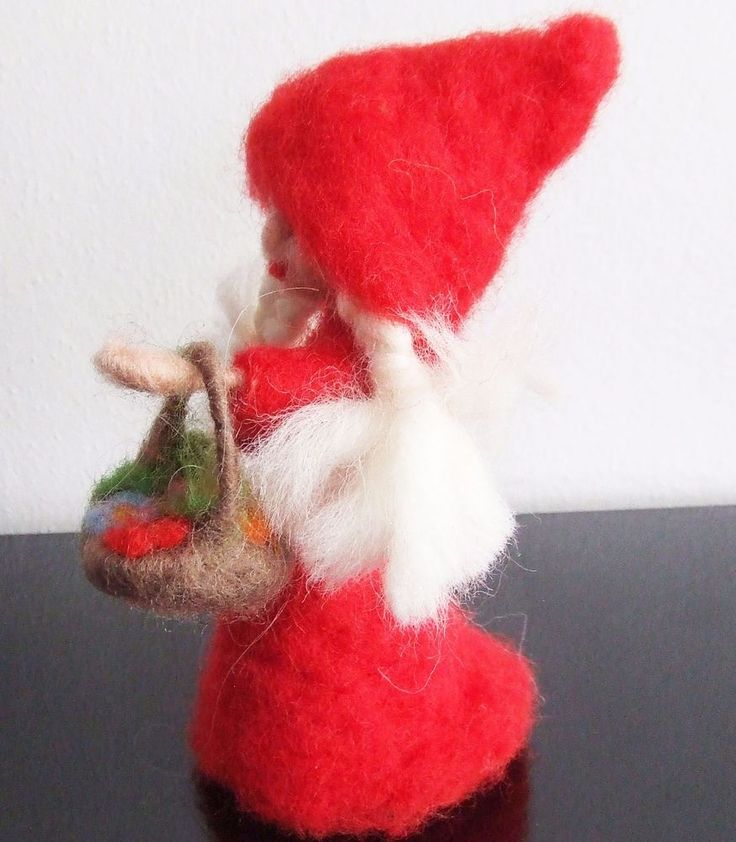 Little Red Riding Hood -  girl   needle felted miniature beautiful gift #nutka_art #AllOccasion