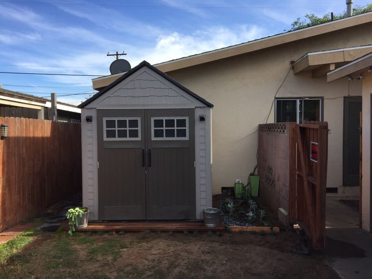 Deck for shed for less than $100.