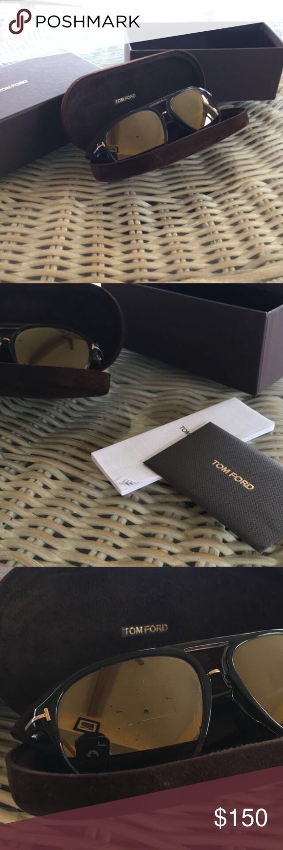 Men's Tom Ford Sunglasses Men's Tom Ford's. Everything included, box, case, papers, cloth. Asking 150, offers will be entertained. Tom Ford Accessories Sunglasses