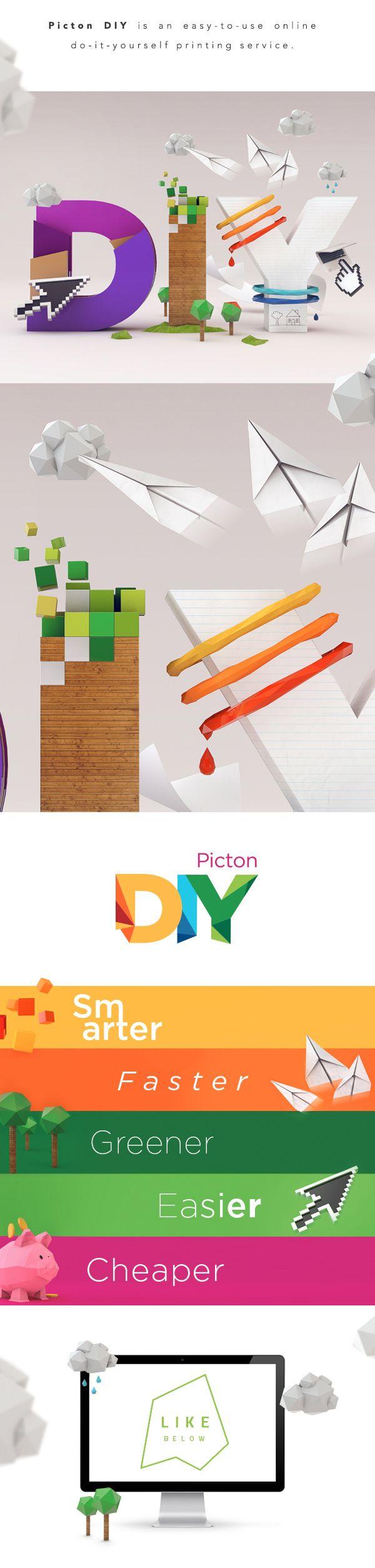 Picton Rebrand by Harley Spick, via Behance