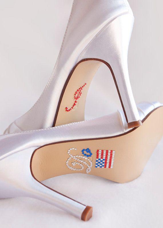 Wedding Shoes I DO Shoe Decal  Red White Blue Wedding  by Parisxox, $12.50