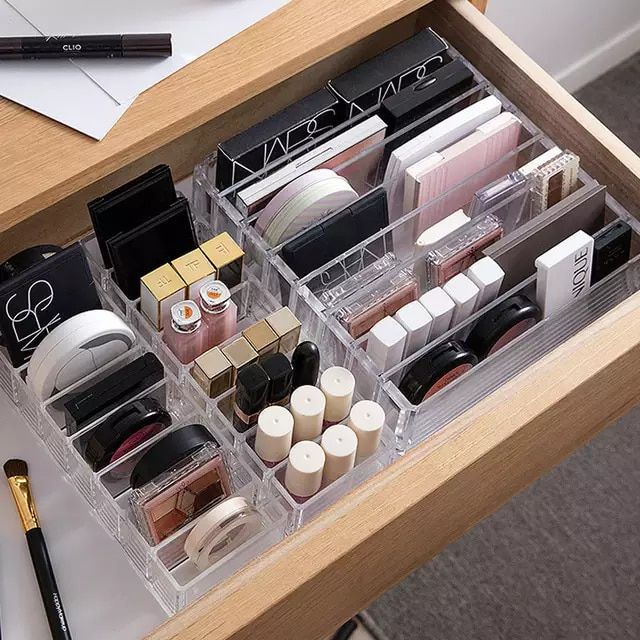 Online Shop Clear Acrylic Makeup Organizer Cc Cream Storage Box Organizador Maquillaje Plastic In 2020 Makeup Drawer Organization Makeup Storage Drawers Makeup Drawer