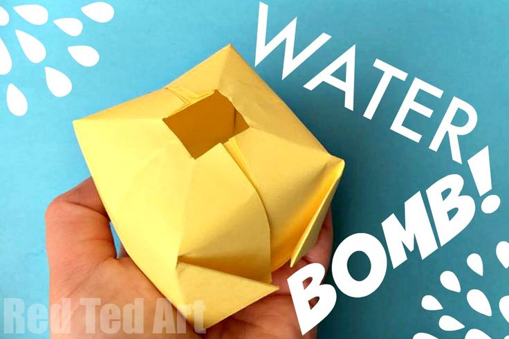 Easy Paper Water Bomb - these are great made from newspaper and promise lots of summer fun!