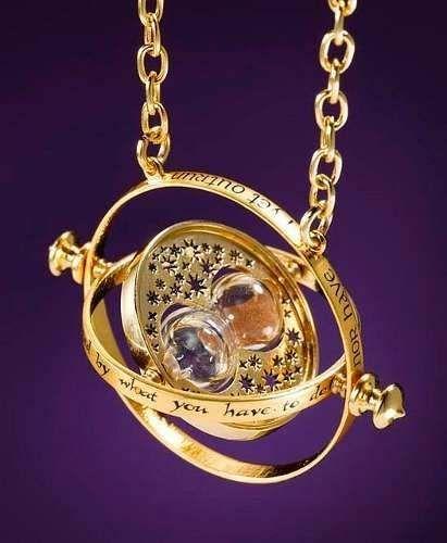 colar vira tempo ouro 18k hermione harry potter já no brasil