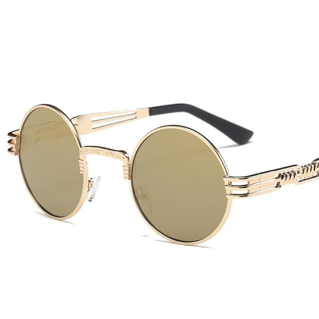 e304e1863e42 These Cool Retro Luxury Designer Sunglasses are perfect for wearing. They  come in a variety of colors and a Round Metal Frame. FREE SHIPPING!