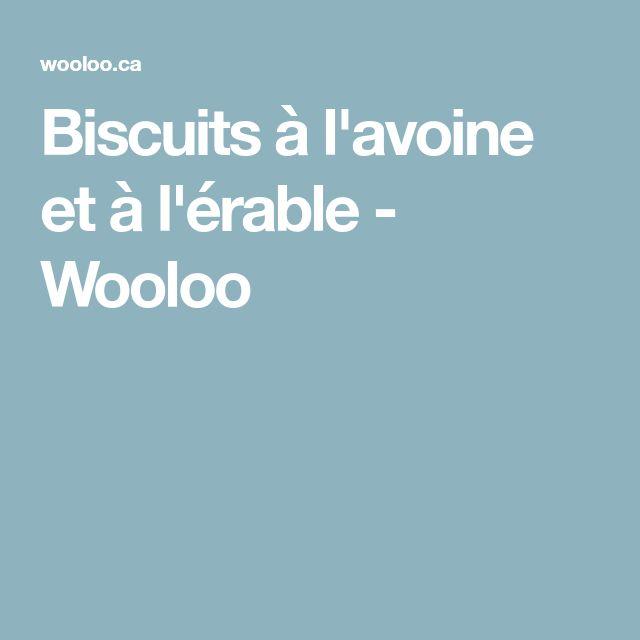 Biscuits à l'avoine et à l'érable - Wooloo
