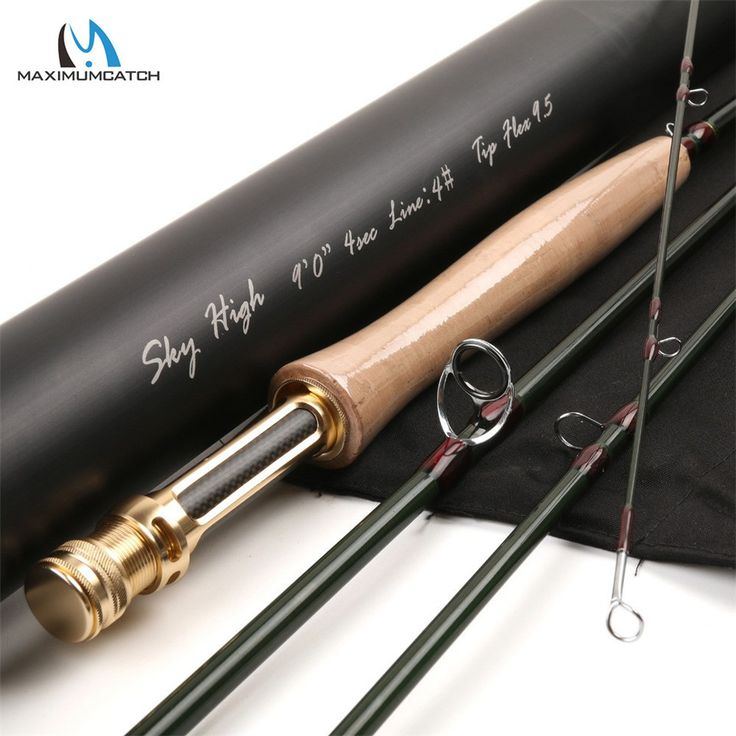 Maximumcatch Skyhigh 9FT 4WT 4Section Fly Fishing Rod Graphite IM12 Toray Carbon Fiber Fast Action Fly Rod With Aluminum Tube
