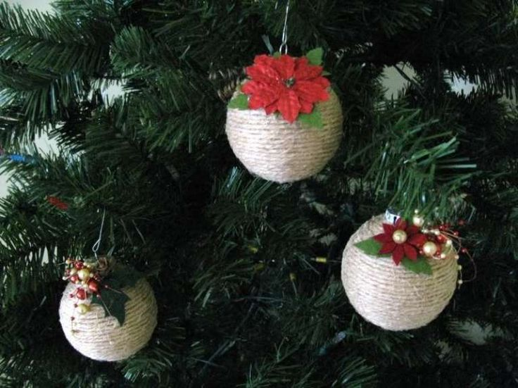 Palline di Natale fai da te con lo spago  (Foto 36/39) | PourFemme