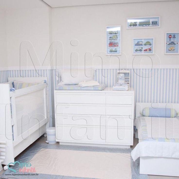 papel de paredes para decorao de quarto de beb e infantil bobinex bambinos ref listras listrado azul branco sp bh mg rj
