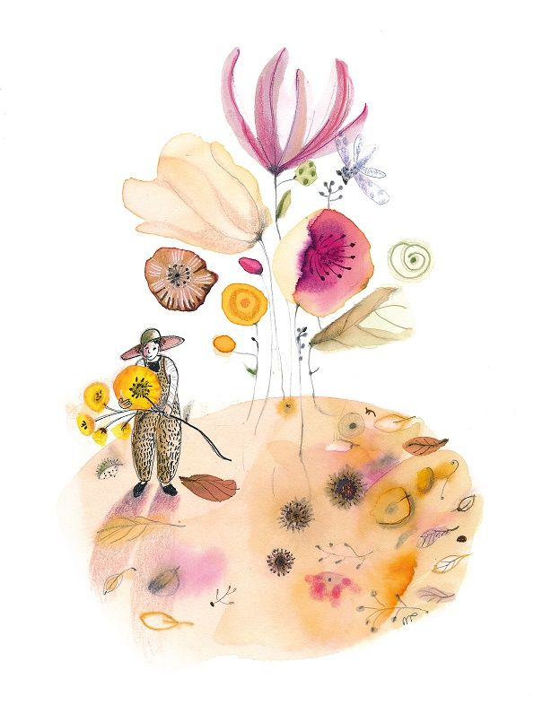 ´September´ illustration by a poem www.moniekpeek.nl