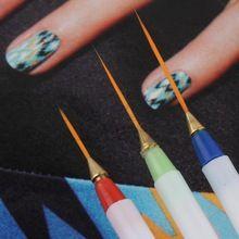 3 pcs Projeto Da Arte Do Prego DIY Desenho Pintura Striping Unha Gel Pen Nail Art Brushes Set Dotting Ferramentas Hot alishoppbrasil