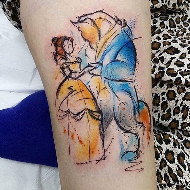 Voici une série de tatouages Disney originaux, des dessins inspirés par la  firme aux grandes oreilles plutôt réussis.