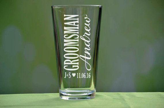 Groomsmen Pint Glass, Personalized Pint Glasses, Groomsmen Gift, Wedding Party Gifts, Custom Pint Glass, Will You be My Groomsman, Best Man