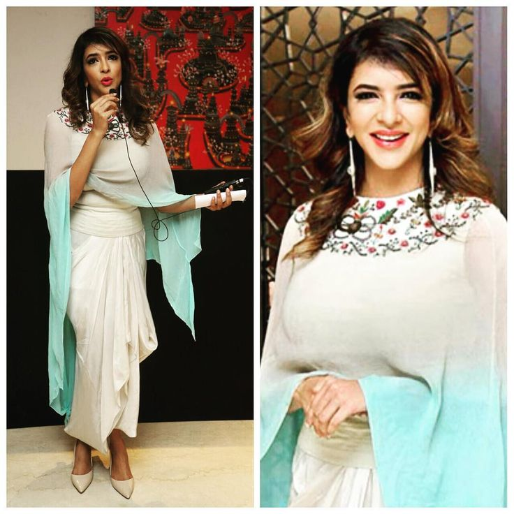 Lakshmi Manchu in an outfit by Anamika Khanna and jewellery by Suhani Pittie for the video launch of Teach for Change initiativePicture: Ins