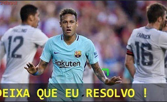 Neymar vs Manchester United (26/07/2017) NEYMAR FEZ UM GOL E TEVE BOA ATUAÇÃO
