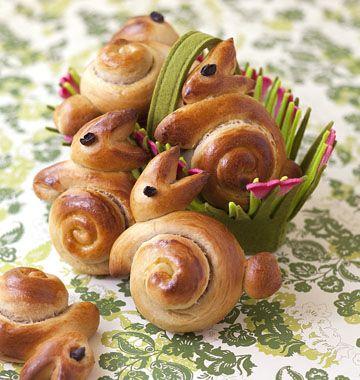Brioches Lapins de Pâques - étapes en photo pas à pas - Menu de Pâques !