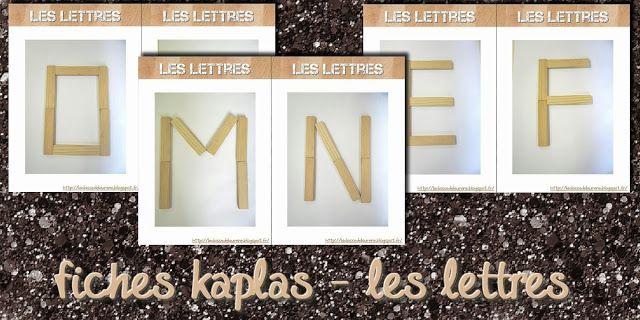 La maternelle de Laurène: fiches modèles kaplas - les lettres