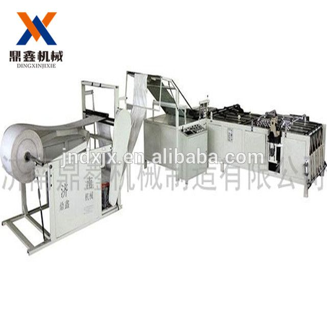Automatic multi function machine for cutting ,sewing and printing PP woven bags