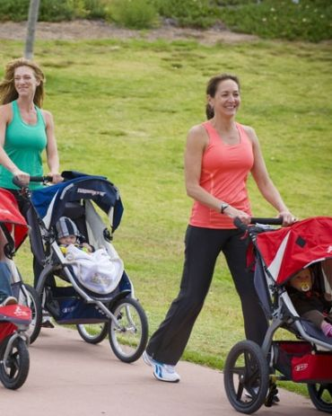 5 Ways to Work Out Outside With Baby Grab the stroller for these simple moves for total-body toning.