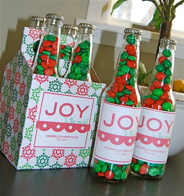 The 114 best christmas diy gifts images on pinterest gift ideas bottles and clean fill with treats and paper over a bottle 6 pack box perfect cute gift via art and crafts image detail for diy christmas gifts solutioingenieria Images