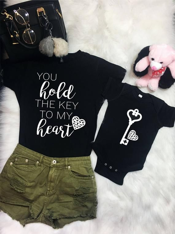 You Hold The Key to My Heart Childrens Long Sleeve T-Shirt Boys Girls Cotton Tee Tops