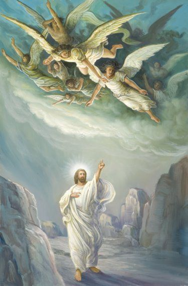 Son of Man and Angels. For He will give His angels charge of you to guard you in all your ways.  On their hands they will bear you up, lest you dash your foot against a stone.