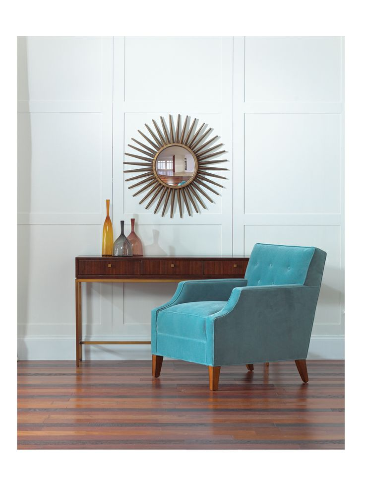 Mitchell Gold + Bob Williams amazing furniture! Available at Port Interiors in Edmond, OK!: Mirror, Design Inspiration, Pretty Consoles, Vandyk Consoles, Consoles Tables, Interiors Design, Amazing Furniture, Bobs Williams, Teal Chairs