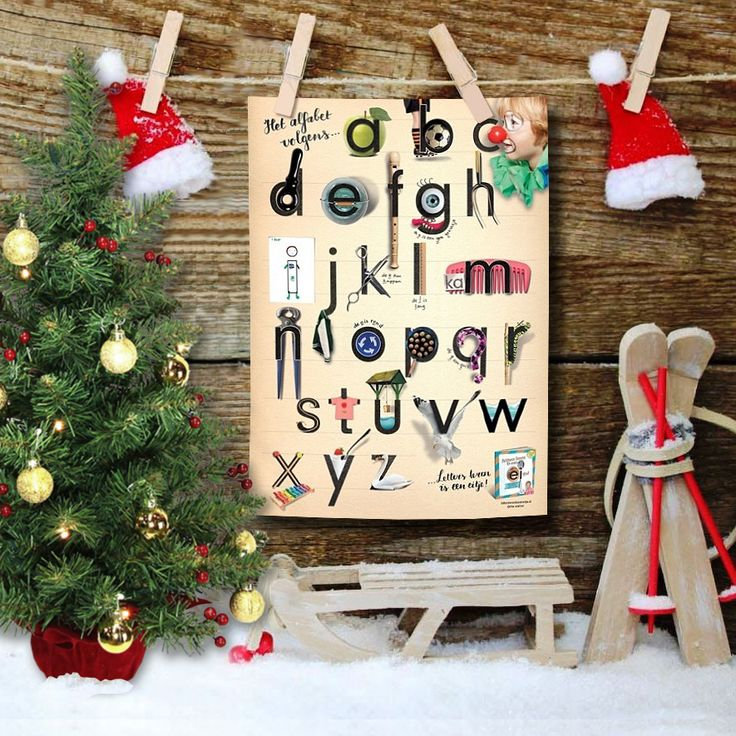 ★ O dennenboom, o dennenboom! ★ Ennuh... zo'n fijne alfabetposter mag  natuurlijk niet ontbreken ónder de boom