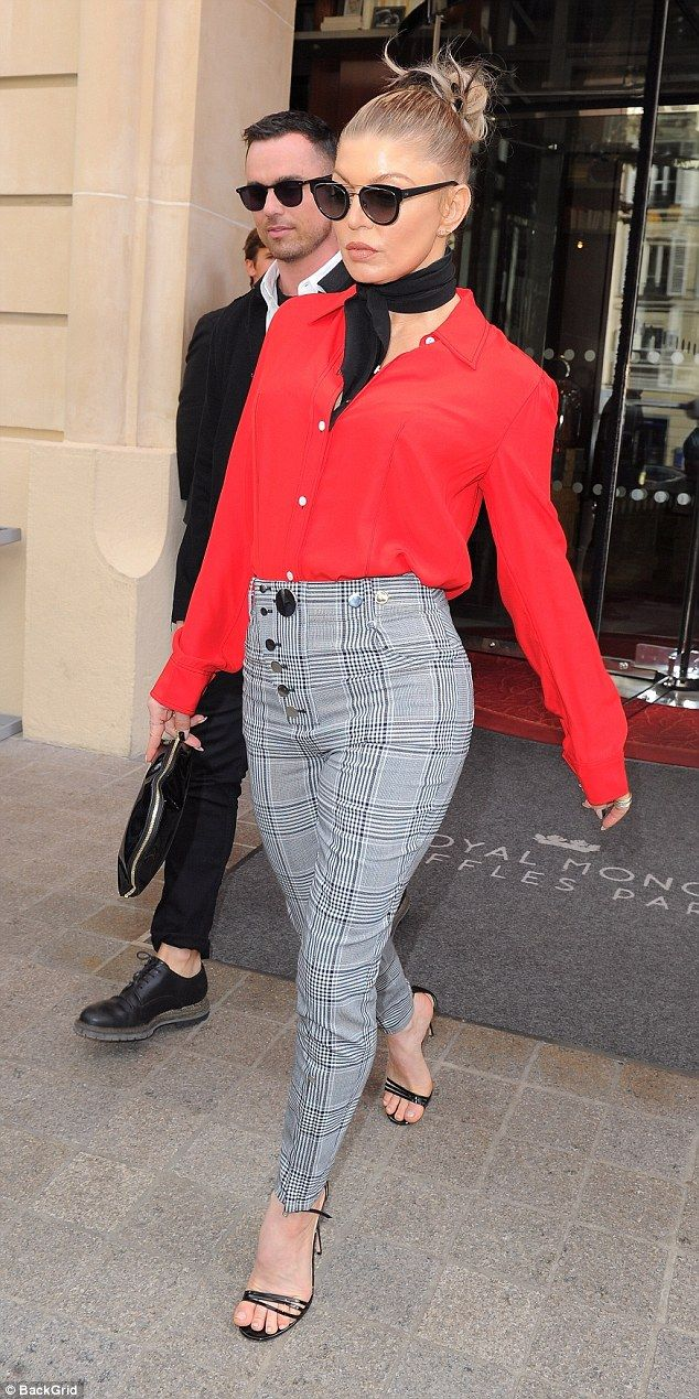 Get checked out in Alexander Wang trousers like Fergie #DailyMail