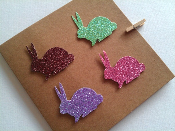 Sparkle Bunnies Greetings/Birthday Recycled Kraft by Orlakittly, $4.50