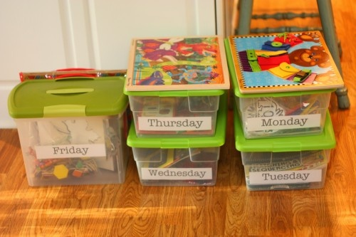 quiet boxes - for when they outgrow naps