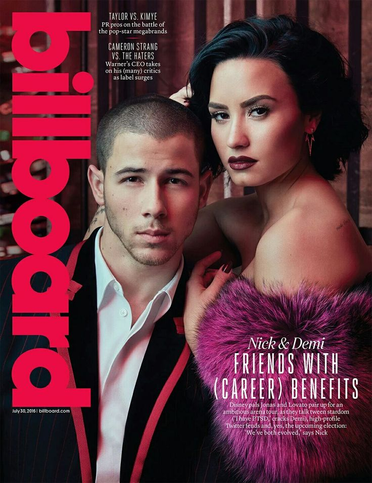 Demi Lovato and Nick Jonas, photoshoot for Billboard (July, 2016).