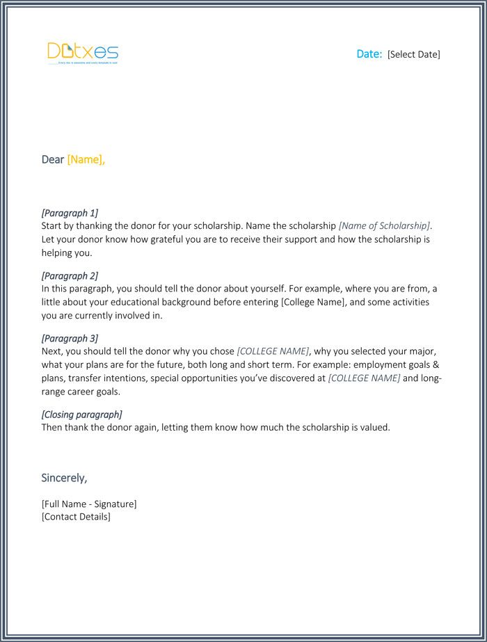 Thank You Scholarship Letter Sample Luxury Scholarship Thank You Letter 7 Samp Scholarship Thank You Letter Thank You Letter Template Thank You Letter Examples