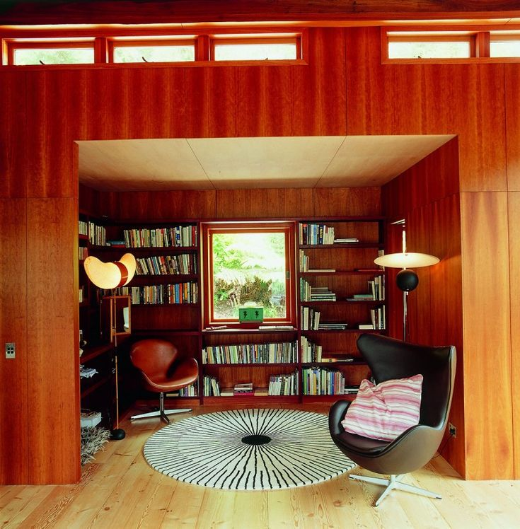Mod library nook. #dreamhouseoftheday