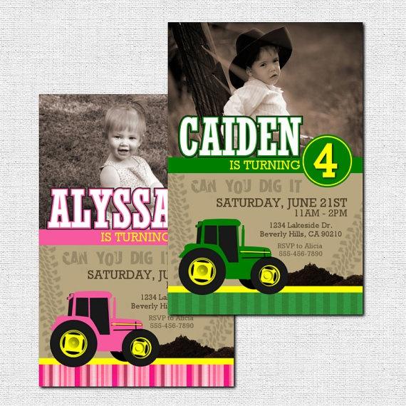 13 best Noahs 3rd John Deere Tractor party images – John Deere Tractor Birthday Invitations