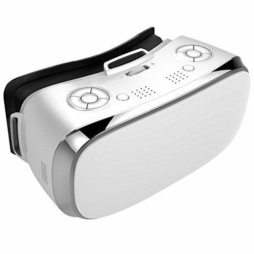 TODO en una caja de gafas 3d vr Realidad Virtual de movimiento Wifi Bluetooth para PC película y juegos HDMI 1080P 360Visualización inmersiva Video con micrófono soporta TF tarjeta regalo de Navidad/año nuevo regalo/regalo de Acción de Gracias 3d VR gafas blanco