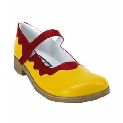 Women's Clowning Shoes YELLOW-RED