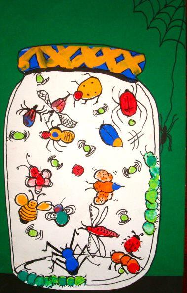 Art+Lessons+For+Kids+-+Thumbprint+Bugs
