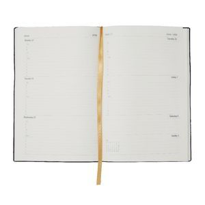 Ampersand A5 Week to View 2016 Printed Woodgrain Diary Brown