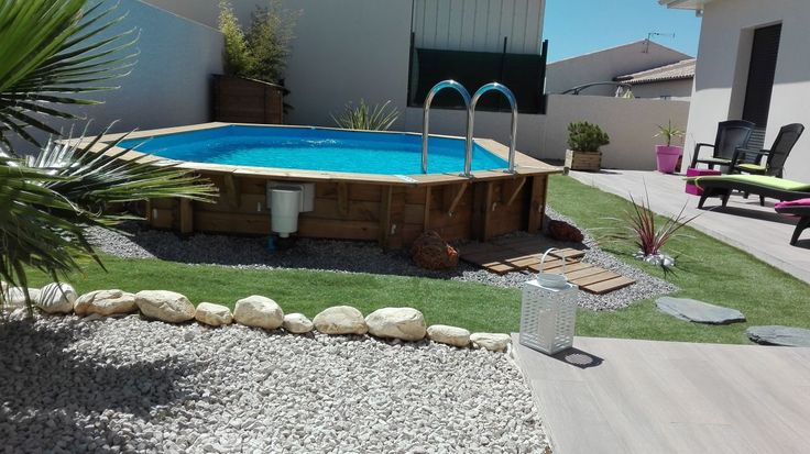 25 best ideas about deco piscine on pinterest Piscine kit bois semi enterree