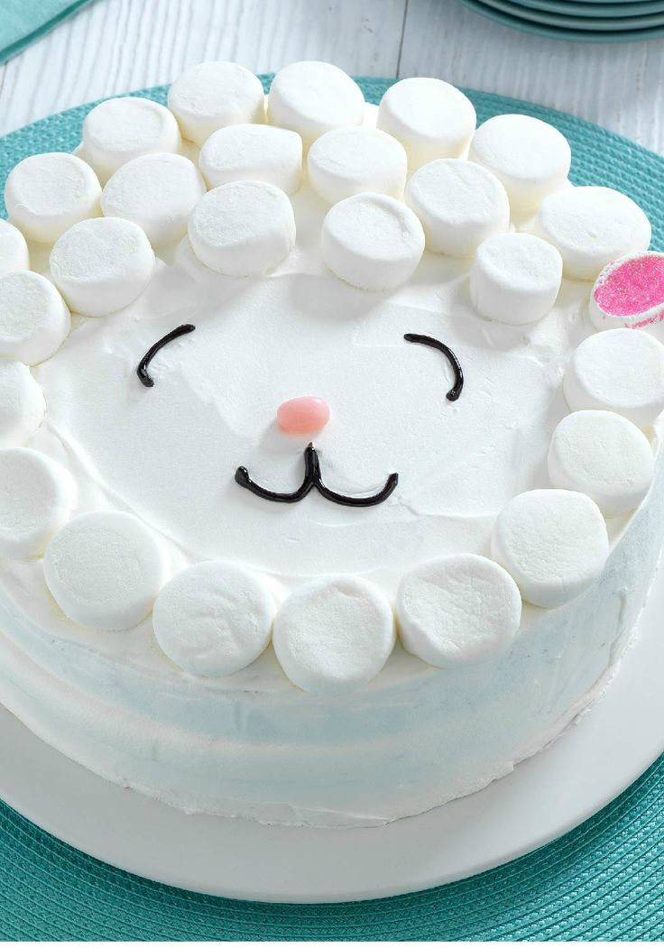 Easy Lamb Cake – No need for a special cake pan for our Easy Lamb Cake! The adorable cake is as easy as it is delicious and soon to be the centerpiece of your Easter dessert table.