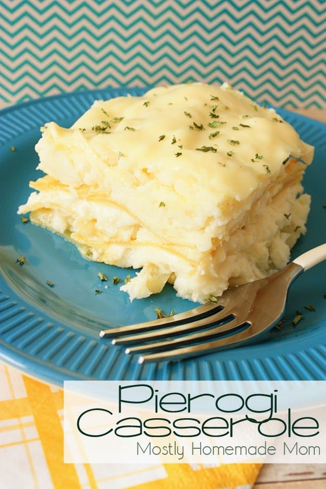 Pierogi Casserole - Lasagna noodles layered with real mashed potatoes, onions, butter, and cheese - the easier way to enjoy fresh pierogies on a busy weeknight!