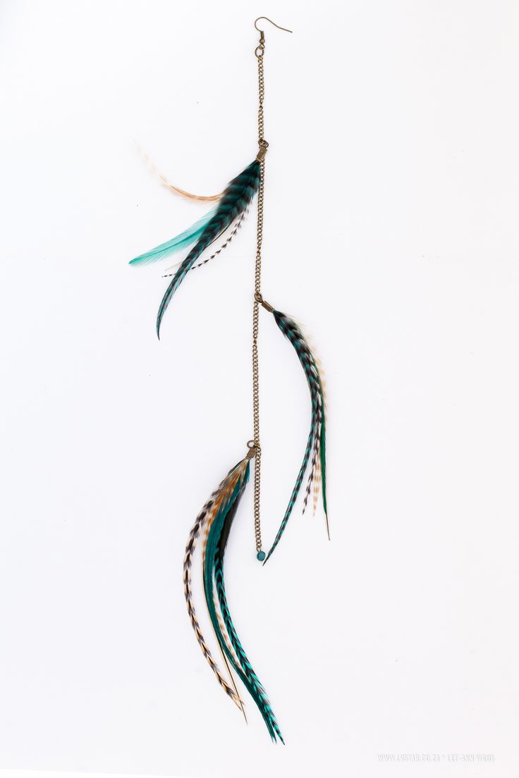 3 Tier Earring- Natural with Teal