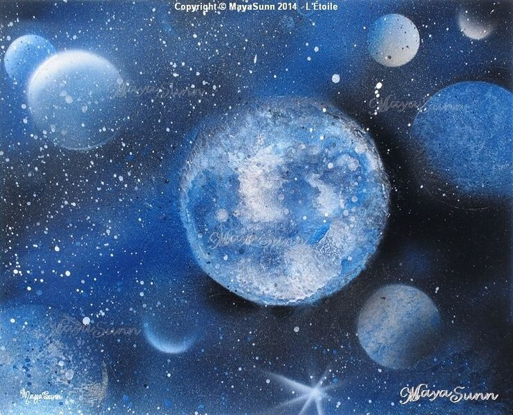 Blue star planets cosmos