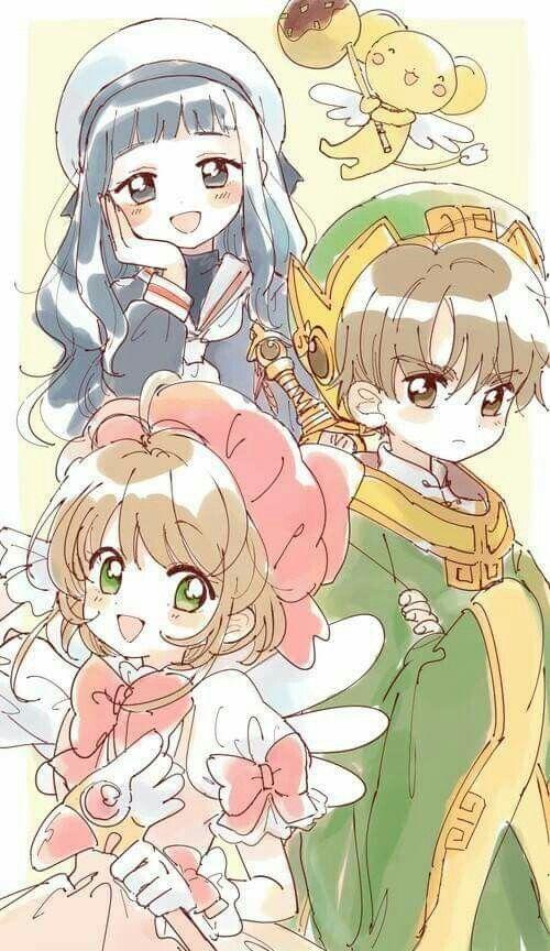 Sakura, Kero, Tomoyo y Shaoran
