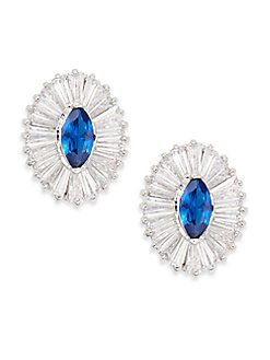 CZ by Kenneth Jay Lane - Ballerina Marquis Stud Earrings