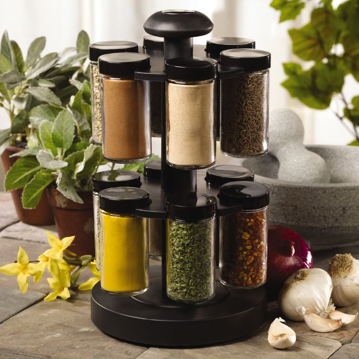 Kamenstein U0027Spice Up Your Healthu0027 12 Jar Revolving Spice Rack By Kamenstein