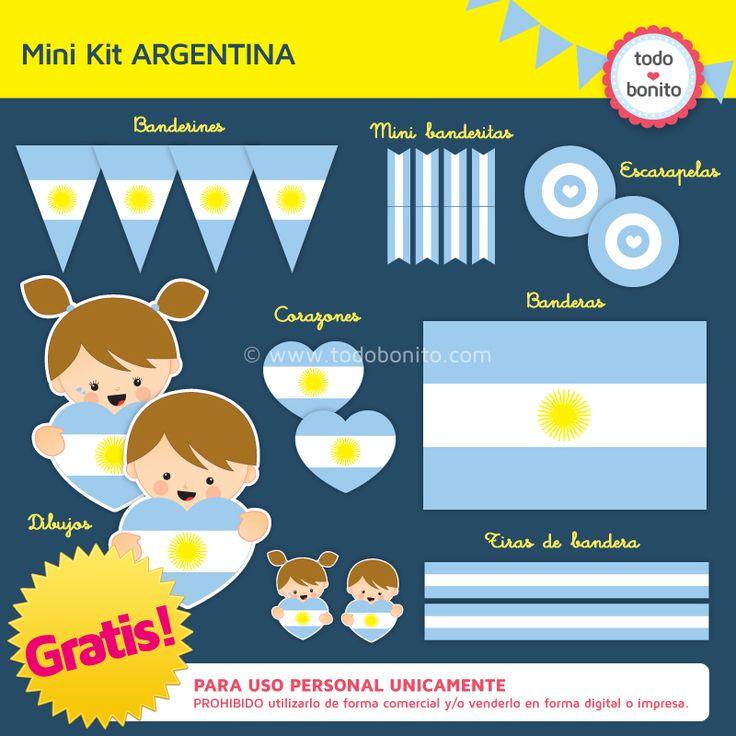 Imprimibles gratis argentina semana de mayo banderas